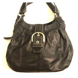 Authentic Coach black leather bag!